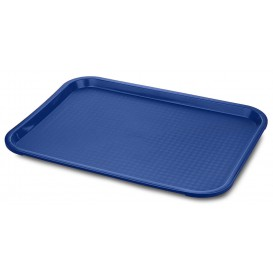 Tacki Plastikowe Fast Food Niebieski 35,5x45,3cm (12 Sztuk)