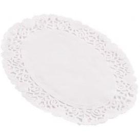 """Serwetki Papierowe Ozdobne Oval Białe """"Litos"""" 18x25cm (250 Sztuk)"""
