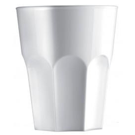 """Kubki Wielokrotnego Użytku SAN """"Granity"""" Białe 400 ml (5 Sztuk)"""