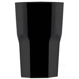 """Kubki Wielokrotnego Użytku SAN """"Granity"""" Czarni 400 ml (75 Sztuk)"""