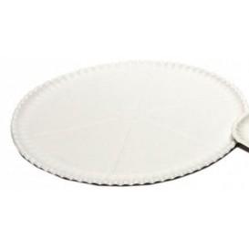 Talerz do Pizzi Kartonowe Białe Ø33cm (50 Sztuk)