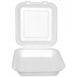 Opakowania MenuBox Trzciny Cukrowej Białe 20x20x7,5cm (50 Sztuk)