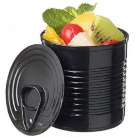Tasting Plastic Tin Can PS Black 60ml Ø5,1x4,8 cm (200 Units)