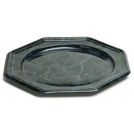 Podtalerz Plastikowy PET Ośmioboczny Marmur 30 cm (5 Sztuk)