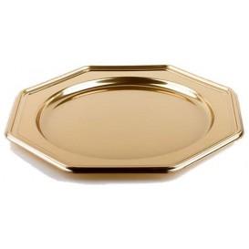 Podtalerz Plastikowy PET Ośmioboczny Złote 30 cm (50 Sztuk)