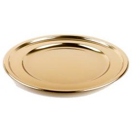 Podtalerz Plastikowy PET Okrągłe Złote 30 cm (5 Sztuk)