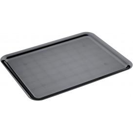 Tacki Plastikowe Tray Czarni 37x50cm (4 Sztuk)