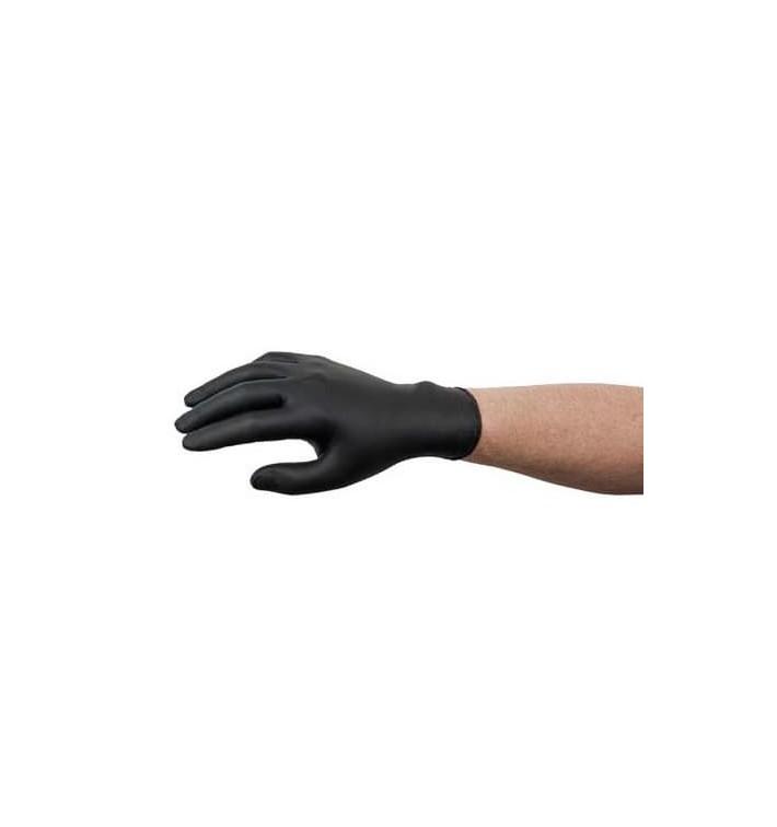 Rękawiczki Nitrylowe bez Talk Czarni Rozmiar XL AQL 1.5 (100 Sztuk)
