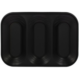 "Tacki Plastikowe PP ""X-Table"" 3C Czarni 330x230mm (30 Sztuk)"