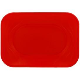 """Tacki Plastikowe PP """"X-Table"""" Czerwerne 330x230mm (60 Sztuk)"""