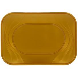"""Tacki Plastikowe PP """"X-Table"""" Złote 330x230mm (2 Sztuk)"""