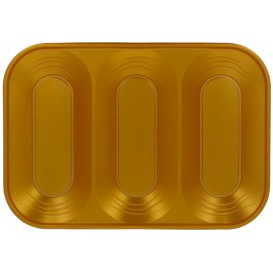 "Tacki Plastikowe PP ""X-Table"" 3C Złote 330x230mm (2 Sztuk)"
