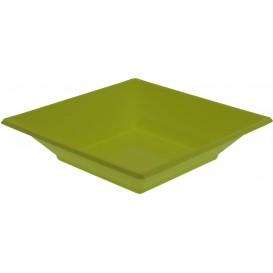 Talerz Plastikowe Głębokie Kwadratowi Pistacja 170mm (750 Sztuk)
