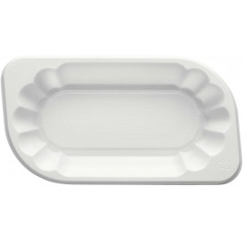 Bandeja de Plastico PS Blanca 300ml (250 Uds)