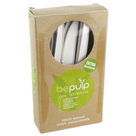 Nóż Biodegradowalny CPLA Białe 160mm w Pudełku (50 Sztuk)