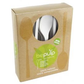 Cucharilla Café Biodegradable PLA Blanco 120mm (50 Uds)
