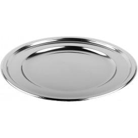 Talerz Plastikowe PET Okrągłe Srebro Ø23cm (180 Sztuk)