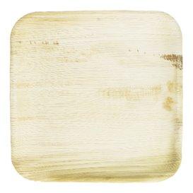 Talerz Kwadratowi Liści Palmowych 15x15cm (25 Sztuk)