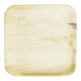 Talerz Kwadratowi Liści Palmowych 18x18cm (25 Sztuk)