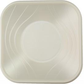 "Miski Plastikowe PP Kwadratowi ""X-Table"" Perła 18x18cm (8 Sztuk)"