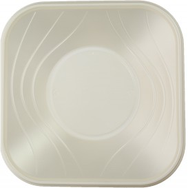 "Miski Plastikowe PP Kwadratowi ""X-Table"" Perła 18x18cm (120 Sztuk)"