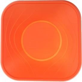 "Miski Plastikowe PP Kwadratowi ""X-Table"" Orange 18x18cm (8 Sztuk)"