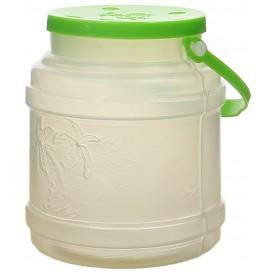 Carafe Przezroczyste Przezroczysty z Uchwytami i Pokrywka do 500 ml (100 Sztuk)
