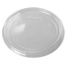 Wieczko Płaskie Plastikowe Przezroczyste Ø7,4cm (100 Sztuk)