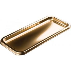 Tacki Plastikowe Prostokątny Złote 35x16cm (5 Sztuk)