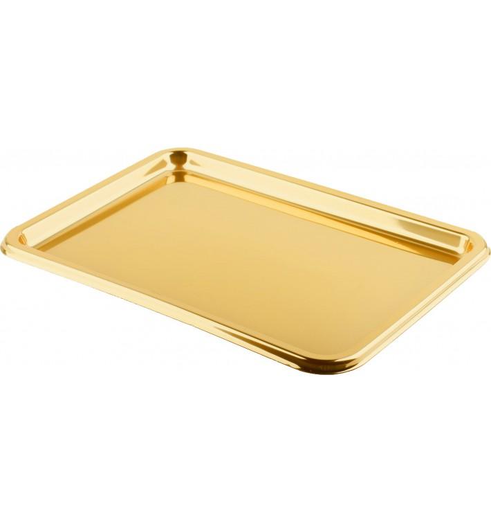 Tacki Plastikowe Prostokątny Złote 35x24 cm (50 Sztuk)