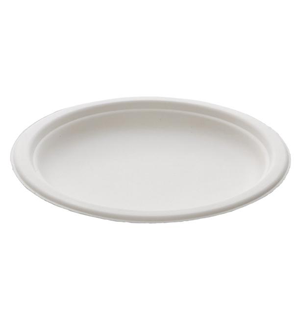 Talerz Trzciny Cukrowej Białe Ø180mm (25 Sztuk)