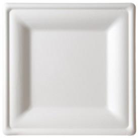 Talerz Kwadratowi Trzciny Cukrowej Białe 260x260mm (200 Sztuk)