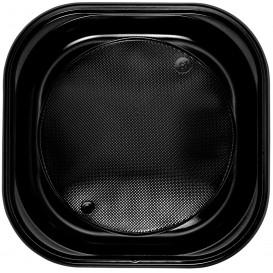 Talerz Plastikowe PS Kwadratowi Czarni 200x200mm (720 Sztuk)