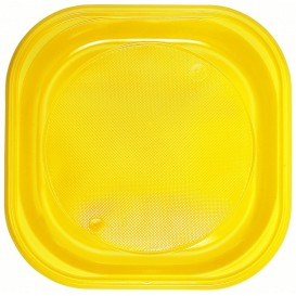 Talerz Plastikowe PS Kwadratowi Żółty 200x200mm (720 Sztuk)