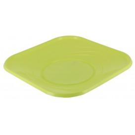 "Talerz Plastikowe PP ""X-Table"" Kwadratowi Limonka 180mm (8 Sztuk)"