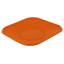 "Talerz Plastikowe PP ""X-Table"" Kwadratowi Orange 230mm (8 Sztuk)"