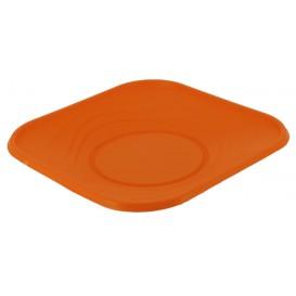 "Talerz Plastikowe PP ""X-Table"" Kwadratowi Orange 230mm (120 Sztuk)"
