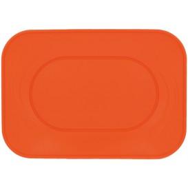 "Bandeja de Plastico PP ""X-Table"" Naranja 330x230mm (60 Uds)"