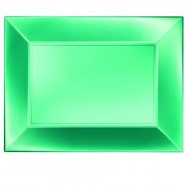 Tacki Plastikowe Zielone Nice Pearl PP 345x230mm (6 Sztuk)