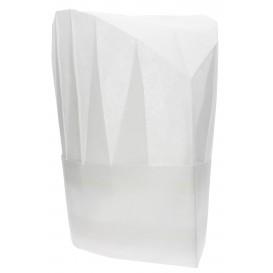 "Disposable Chef Hat Pinstripe ""TST"" White (100 Units)"