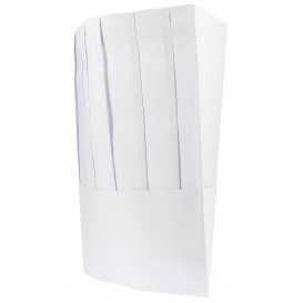 Disposable Paper Chef Hat Pinstripe (100 Units)