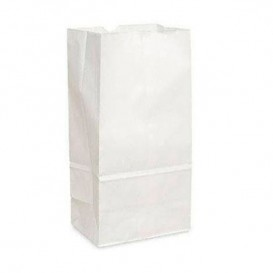Torby Papierowe bez Uchwytów Kraft Białe 18+11x34cm (25 Sztuk)