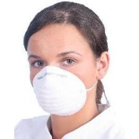 Maska Ochronna Przeciwpyłowa Polipropylen Białe (50 Sztuk)