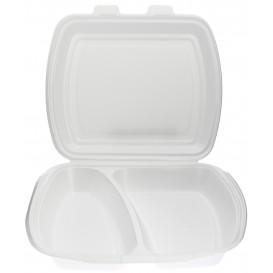 Pojemniki Styropianowe MenuBox 2 K. Białe 240x210x70mm (125 Sztuk)