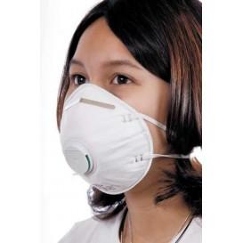 Maska Ochronna Przeciwpyłowa zaworkiem Białe FFP2 (10 Sztuk)