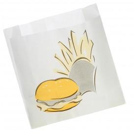 Torby na Burgery Tłuszczoodporny 15+5x16cm (100 Sztuk)
