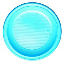 Talerz Plastikowe PS Głębokie Niebieski Światło Ø220mm (30 Sztuk)