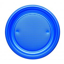 Plato de Plastico PS Llano Azul Oscuro Ø170mm (50 Uds)