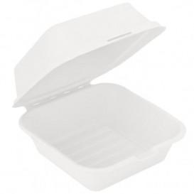 Pudełka na Burgeri Trzciny Cukrowej Białe 152x152x84mm (50 Sztuk)