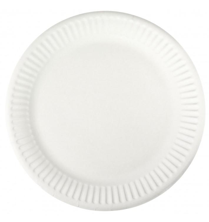 Talerz Papierowe Białe Ø18,5 cm (100 Sztuk)